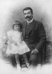 Young Ayn Rand with her father
